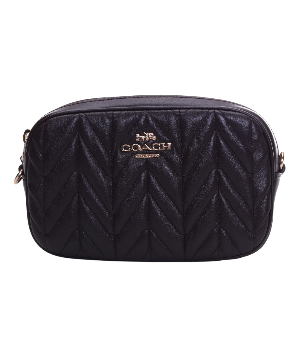 a941667f0ec8 Coach Black Quilted Leather Belt Bag