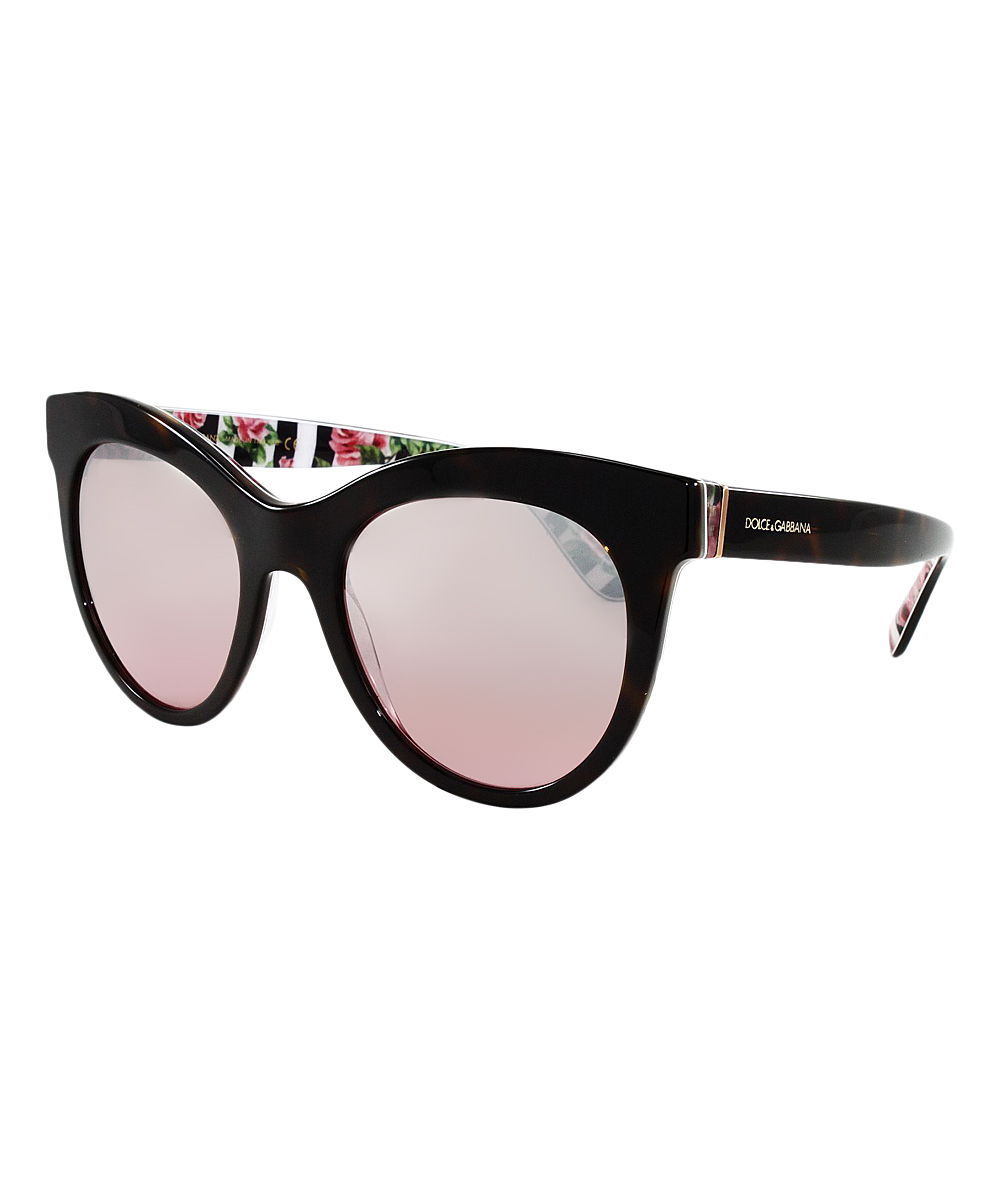 fce42e2a9c43 Dolce & Gabbana Havana & Rose Cat-Eye Sunglasses | Zulily