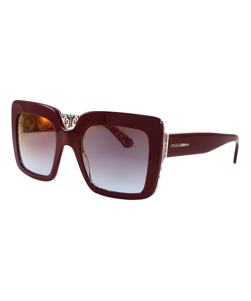 1f945750b7e Dolce   Gabbana Azure-Pink Gradient   Brown Square Sunglasses