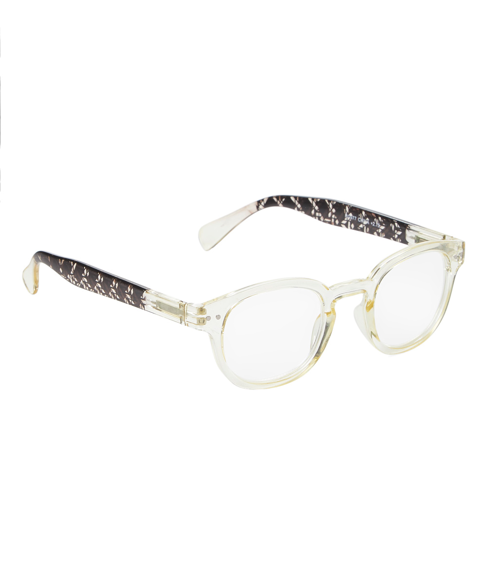Art Wear Women's Reading Glasses Clear - Clear Gold Winsome Readers