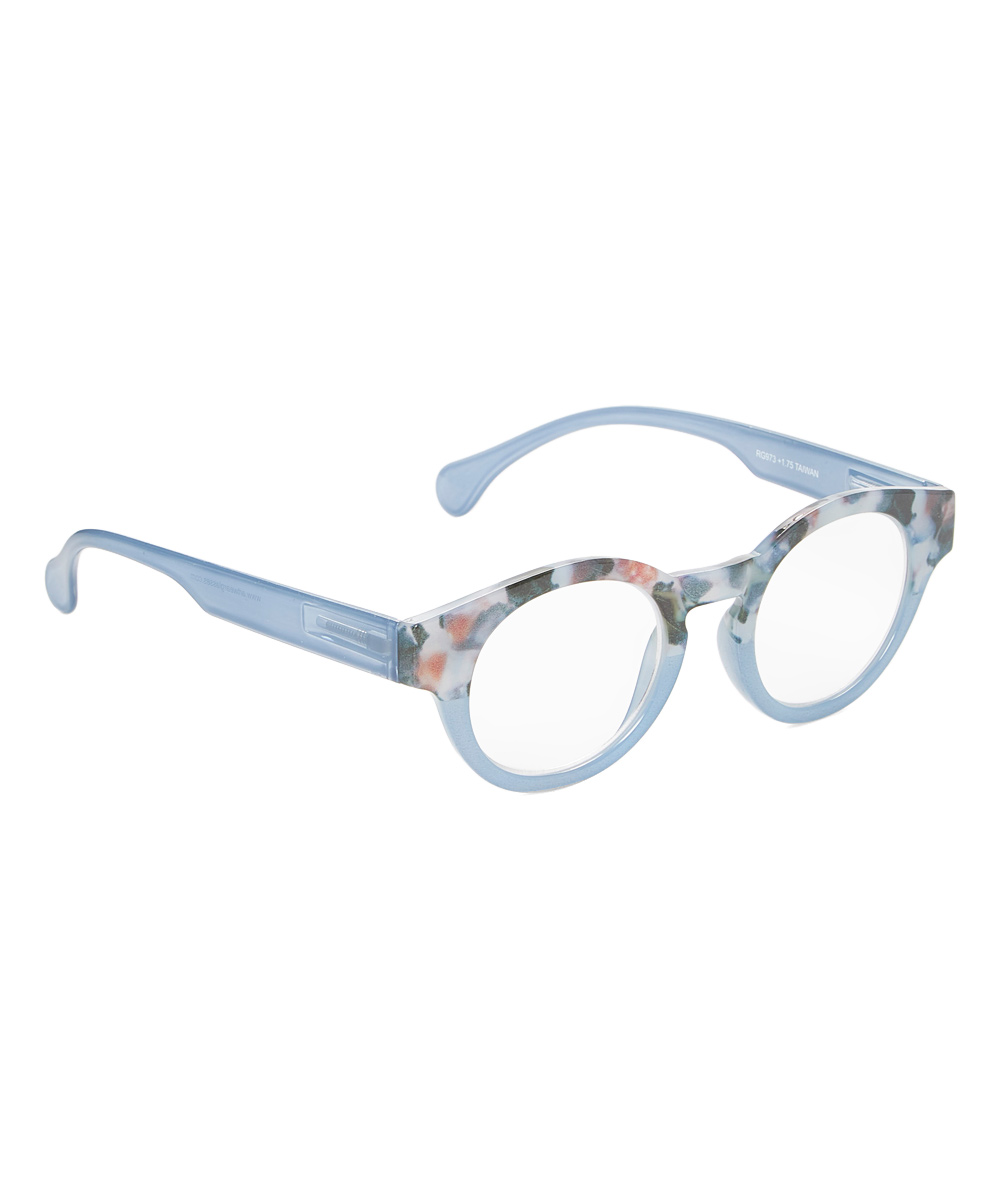 Art Wear Women's Reading Glasses Blue - Blue Testify Round Readers
