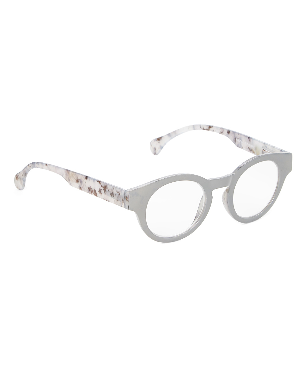 Art Wear Women's Reading Glasses Grey - Gray Testify Round Readers