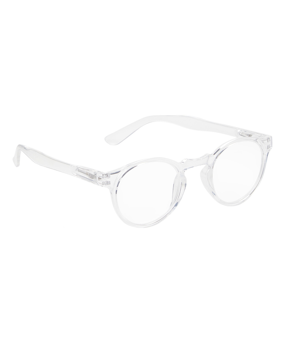 Art Wear Women's Reading Glasses Clear - Clear Winner Round Readers