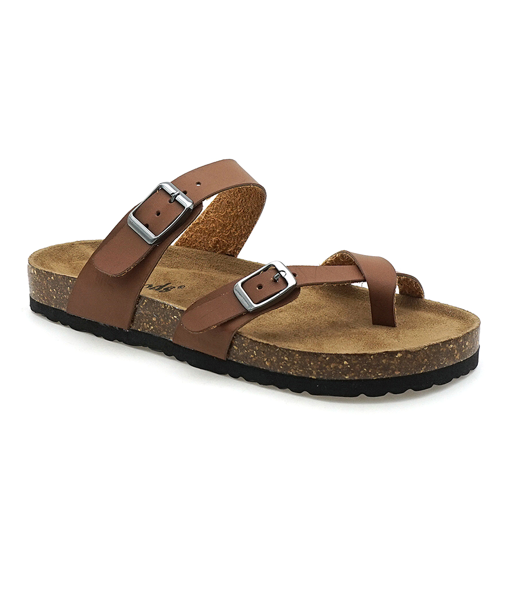 6663e01d8 OUTWOODS Brown Bork Cross-Strap Sandal - Women