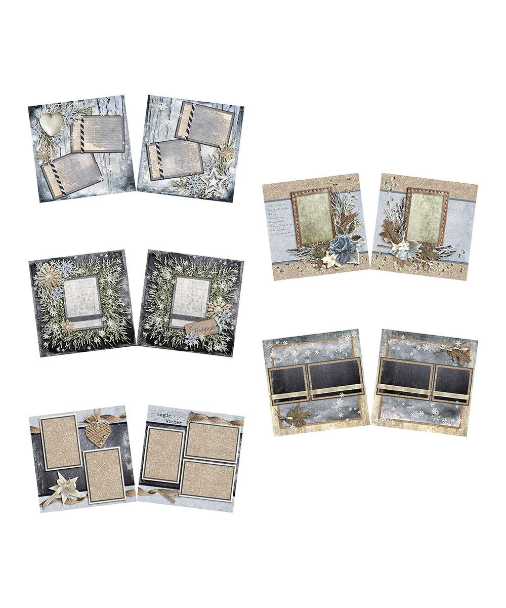 Beauty of Winter Scrapbook Layout Set