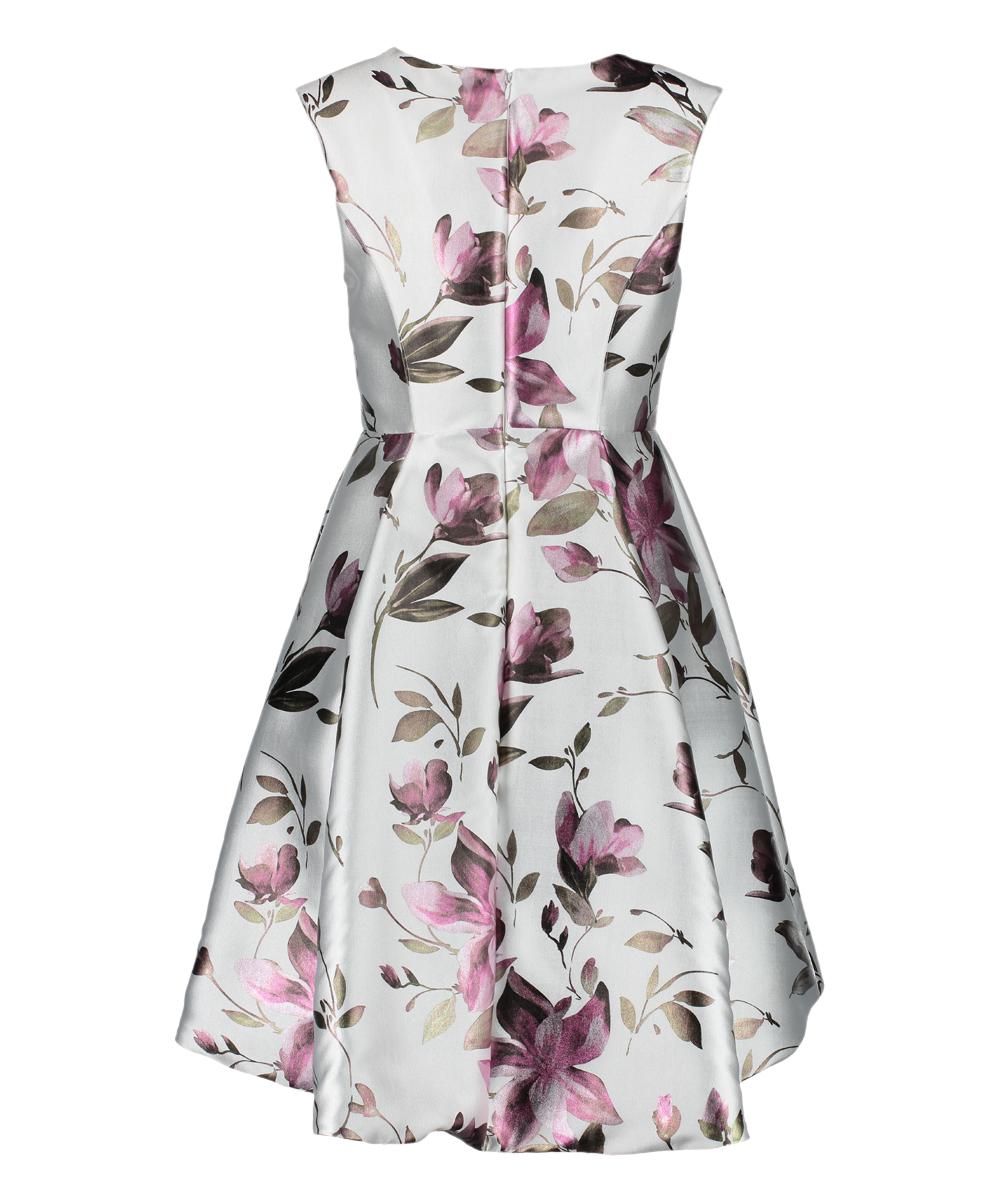 9e420eaeeef Shelby Nites Cream & Pink Floral Cap-Sleeve Dress - Women