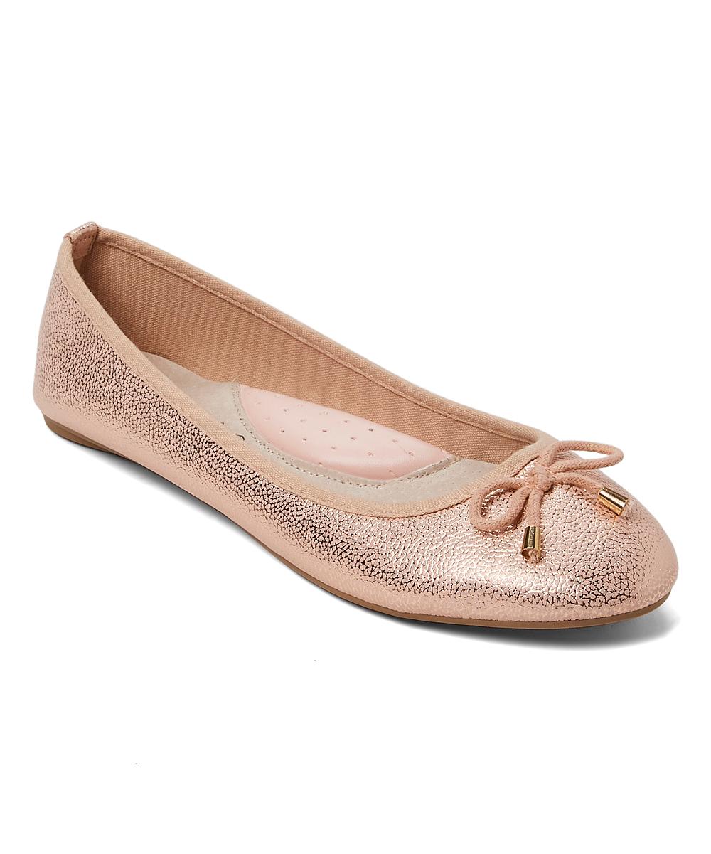 051d3b7b1355 GoldToe Rose Gold Metallic Ballet Flat - Women