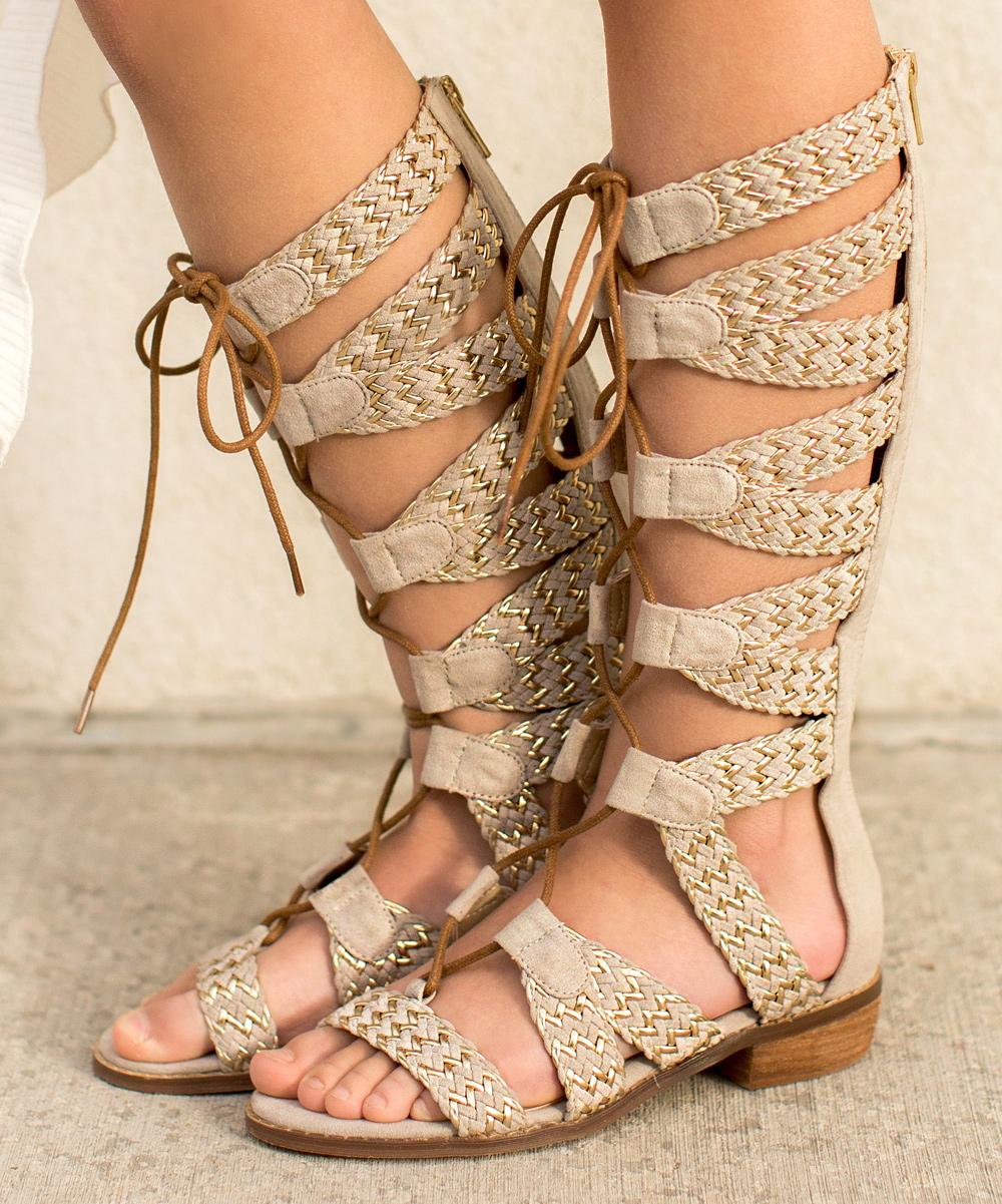 5759aeaacba4 Joyfolie gold vilette gladiator sandal girls zulily jpg 1000x1201 Joyfolie  gladiator sandals