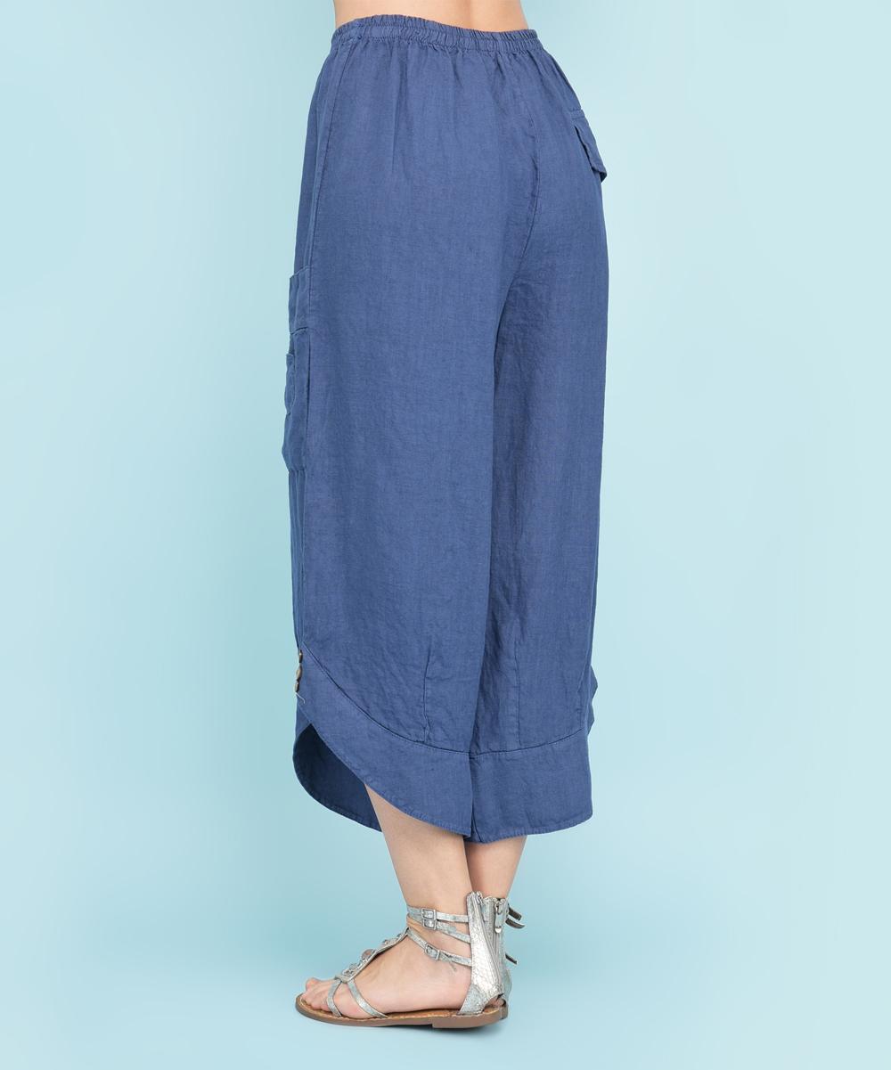 b9d5db30bda ... Womens BLUE Blue Alabama Linen Pants - Alternate Image 2 ...