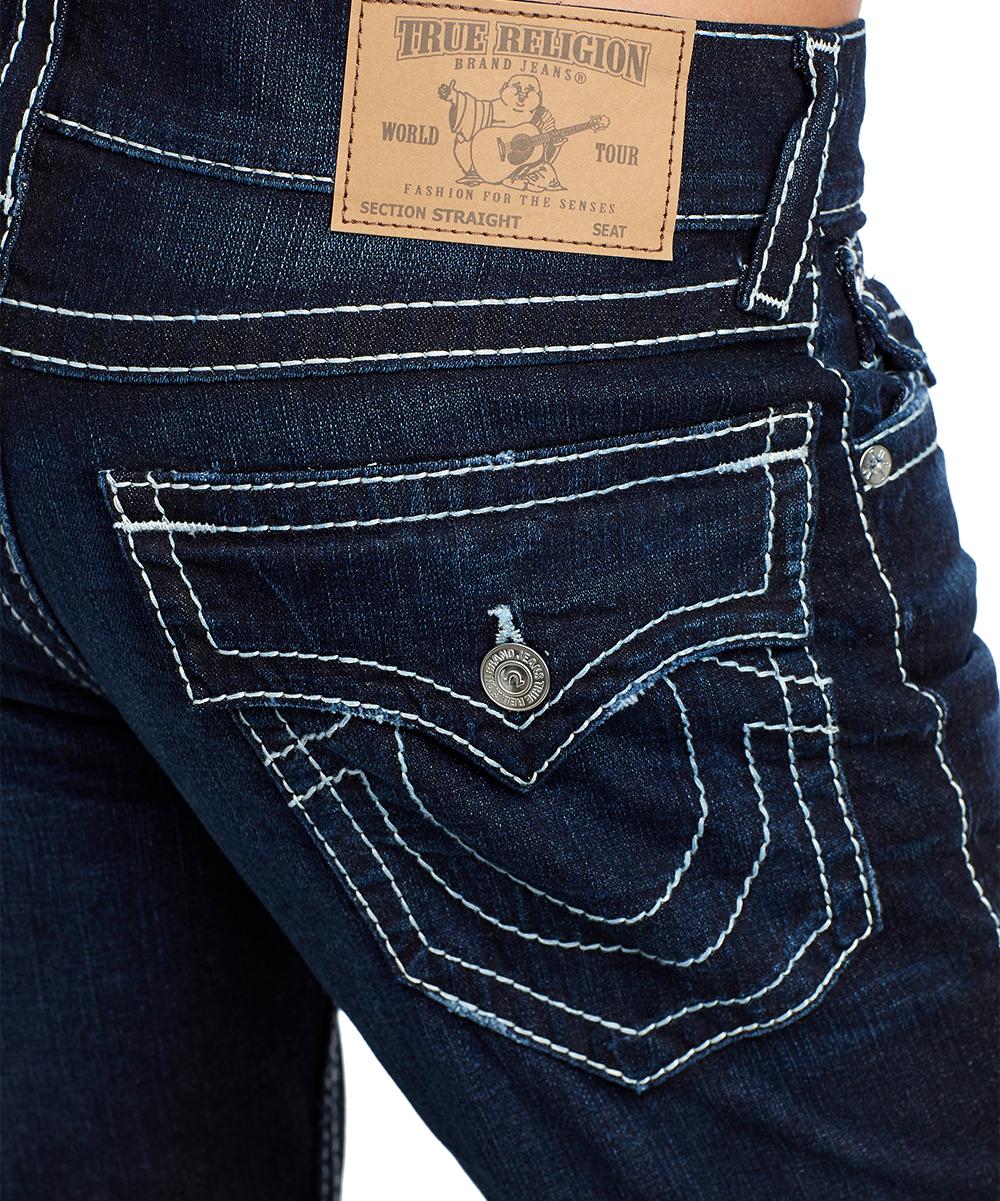 7676c3ca4 ... Mens FERD DARKEN BRICK Darken Brick Flap-Pocket Natural Big T Straight-Leg  Jeans ...