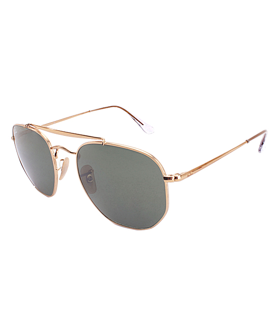 eec4ef21f01e4 Ray-Ban Gold   Blue Marshall Modified Aviator Sunglasses - Unisex ...
