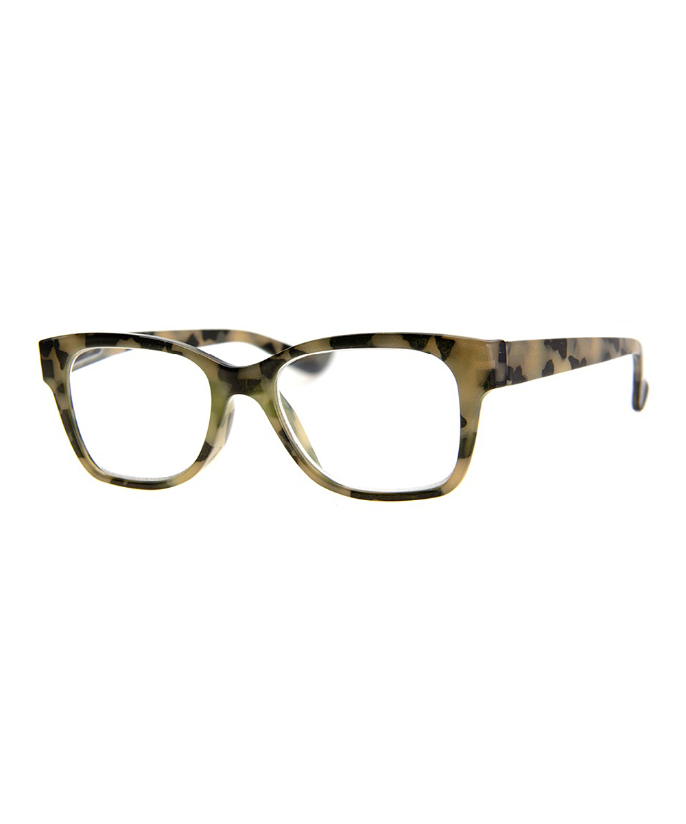 A.J. Morgan Women's Reading Glasses OLIVE - Olive Tortoise Polished Square Readers