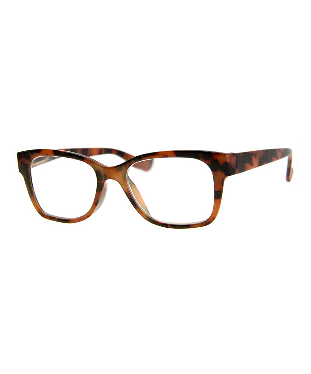 A.J. Morgan Women's Reading Glasses RUST - Rust Tortoise Polished Square Readers