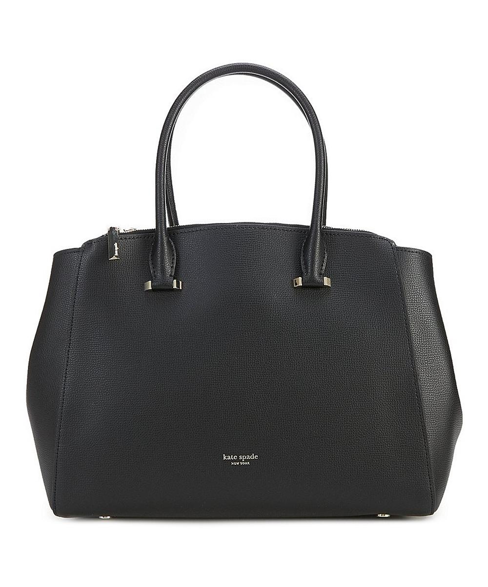 74281ca3fe15d Kate Spade Black Double-Zip Leather Large Sydney Satchel