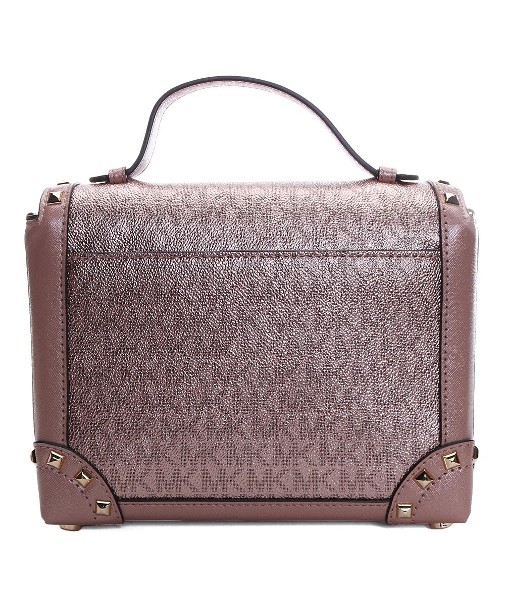 9e52cec366b9 Michael Kors Rose Gold Tina Trunk Crossbody Bag | Zulily