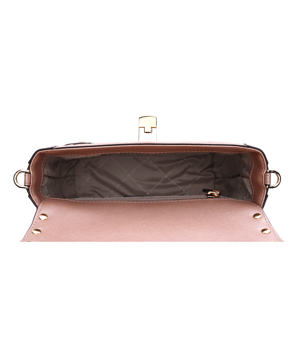 319da19682b3dc Michael Kors Rose Gold Tina Trunk Crossbody Bag | Zulily