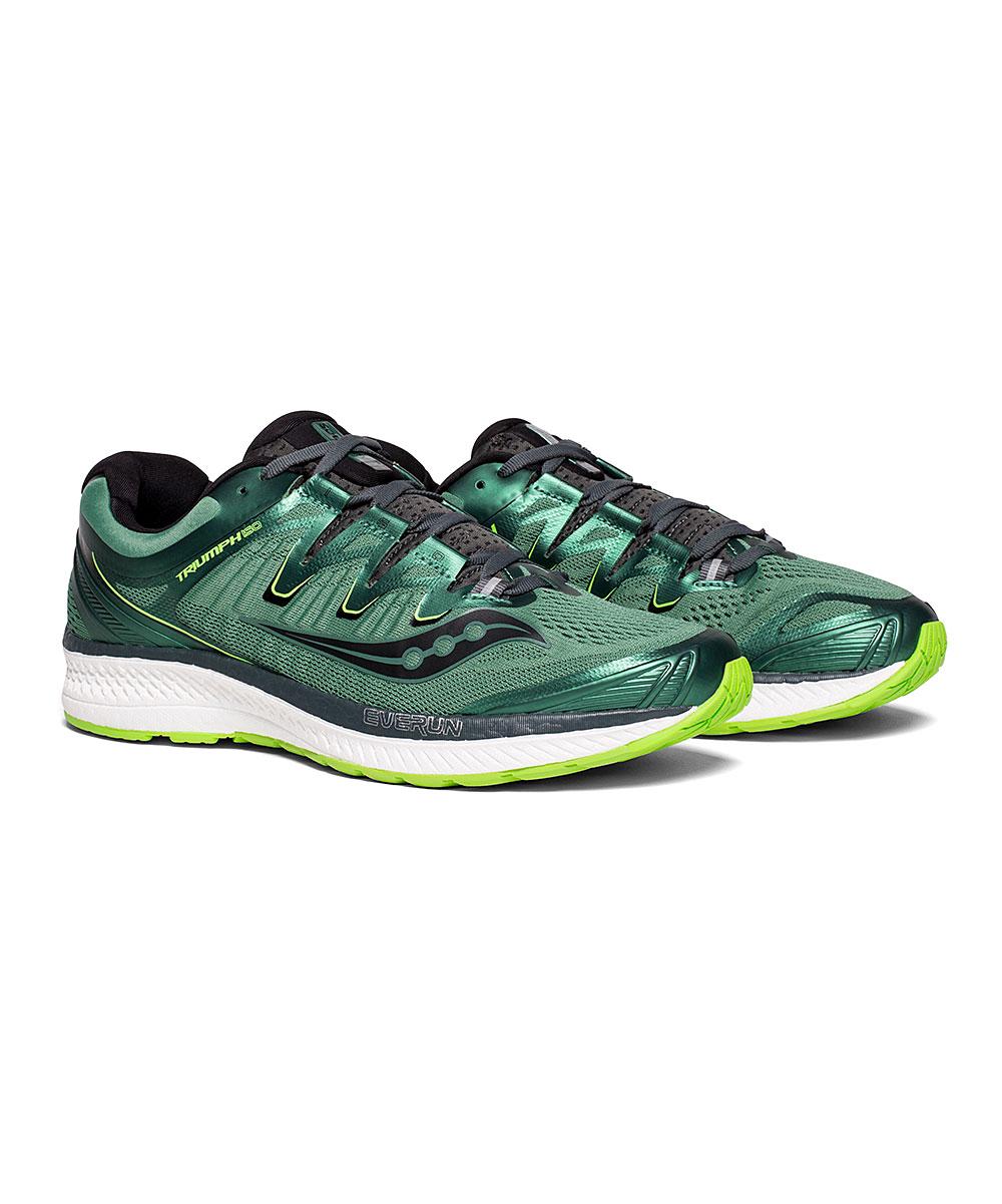 Saucony Men's Running Shoes GREEN/BLACK - Green & Black Triumph ISO 4 Running Shoe - Men