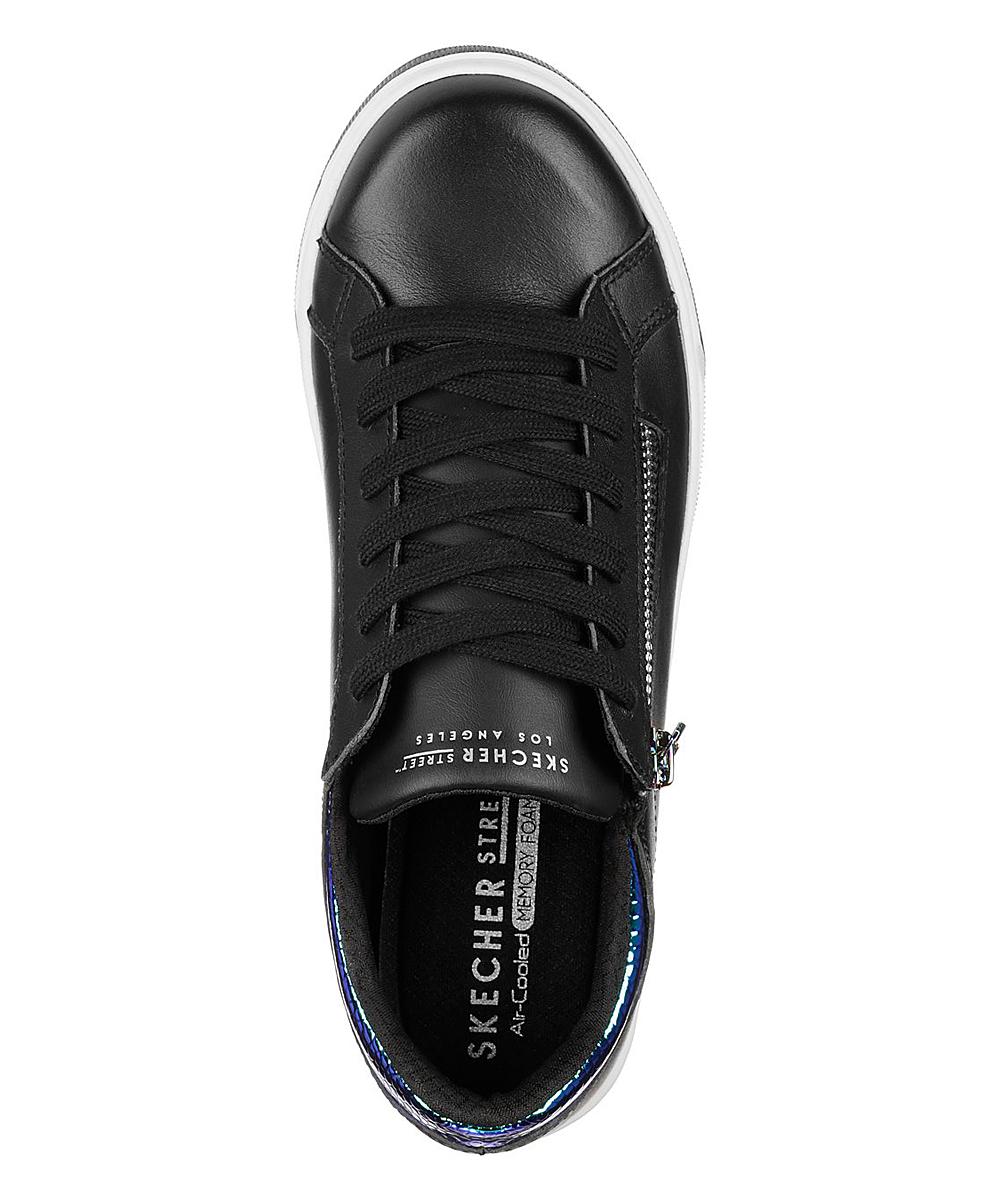 6463f2ce Skechers Black Zip Siders Prima Leather Sneaker - Women | Zulily