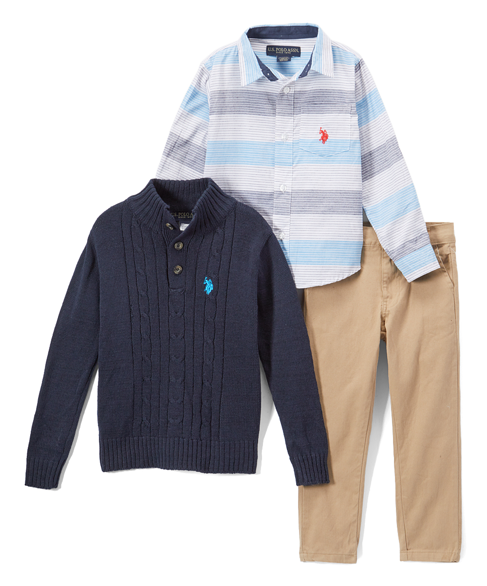 d4edc6a580cc U.S. Polo Assn. Blue Stripe Button-Up