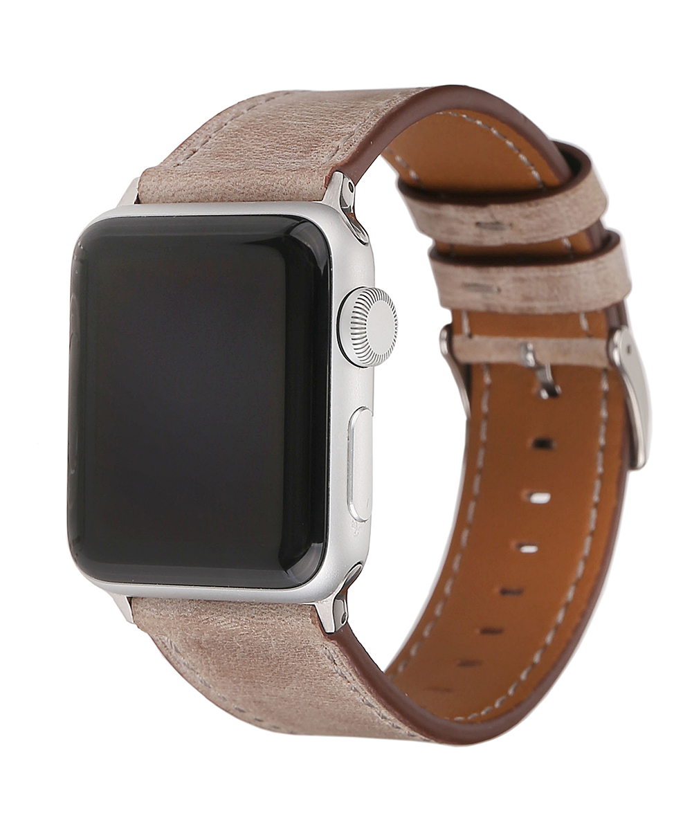 Pantheon Wireless   Tan - Tan Leather Band for Apple Watch