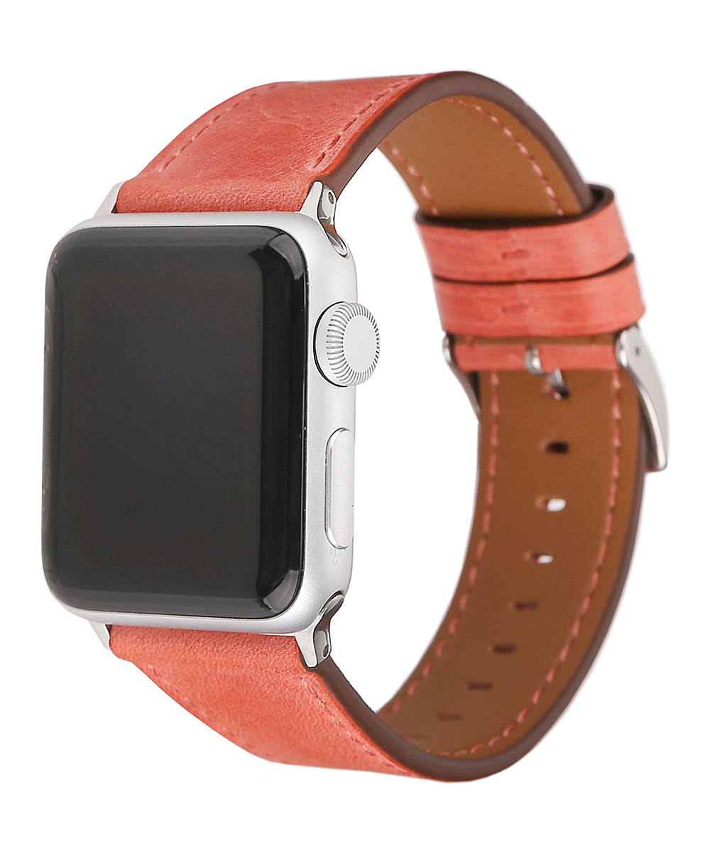 Pantheon Wireless   Peach - Peach Leather Band for Apple Watch