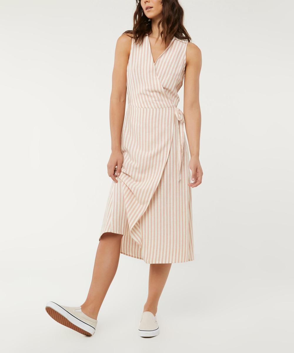 196a7cfabd ONeill White Skylie Linen-Blend Wrap Dress - Women   Zulily