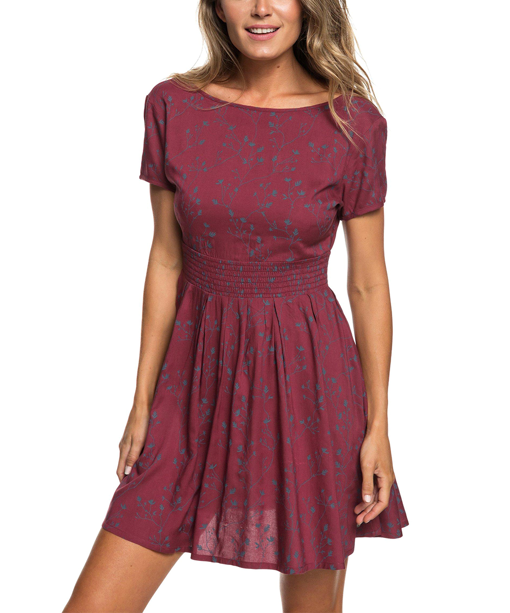 1719824df1 Roxy Oxblood Red Wayag Guide Open-Back Skater Dress - Juniors