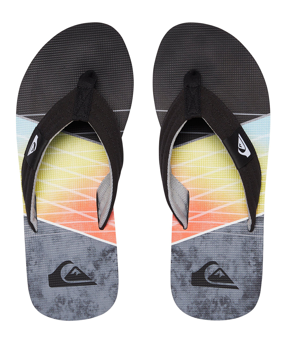5c76be4fbfd7 Quiksilver Gray   Black Molokai Layback Flip-Flops - Men