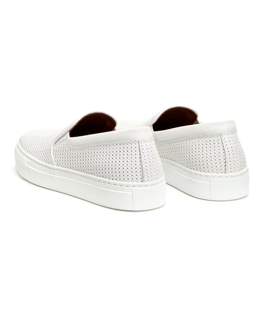 6e62ce17839 ... Womens WHITE White Alisha Leather Slip-On Sneaker - Alternate Image 4