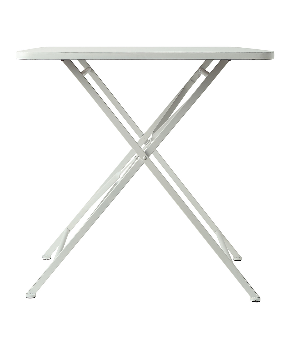 White Finish Metal Folding Table | Zulily