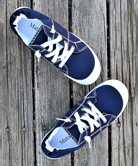 Mata Shoes Women's Sneakers NAVY - Navy Summer Sneaker - Women