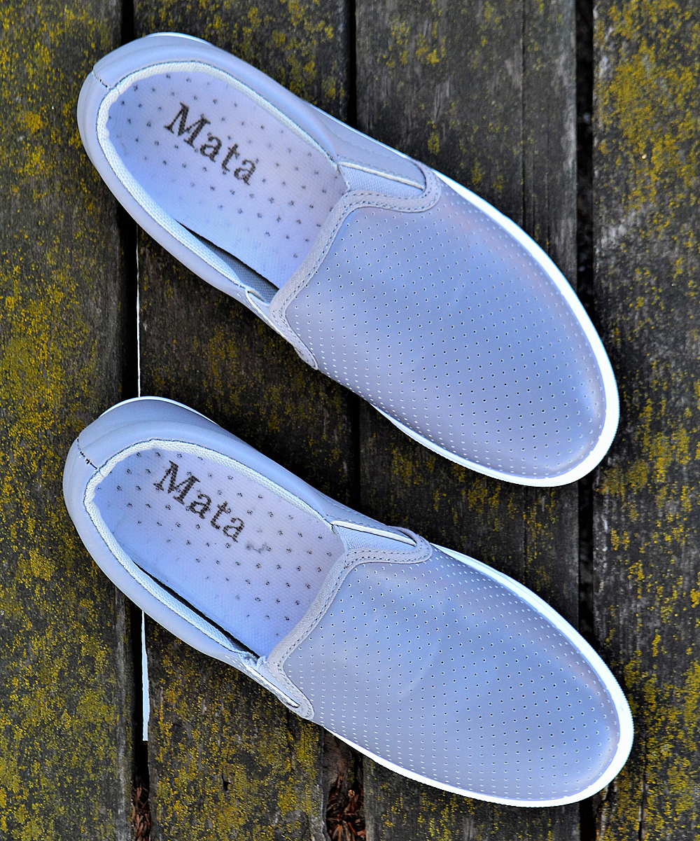 Mata Shoes Women's Sneakers GREY - Gray Pinster Perforated Slip-On Sneaker - Women