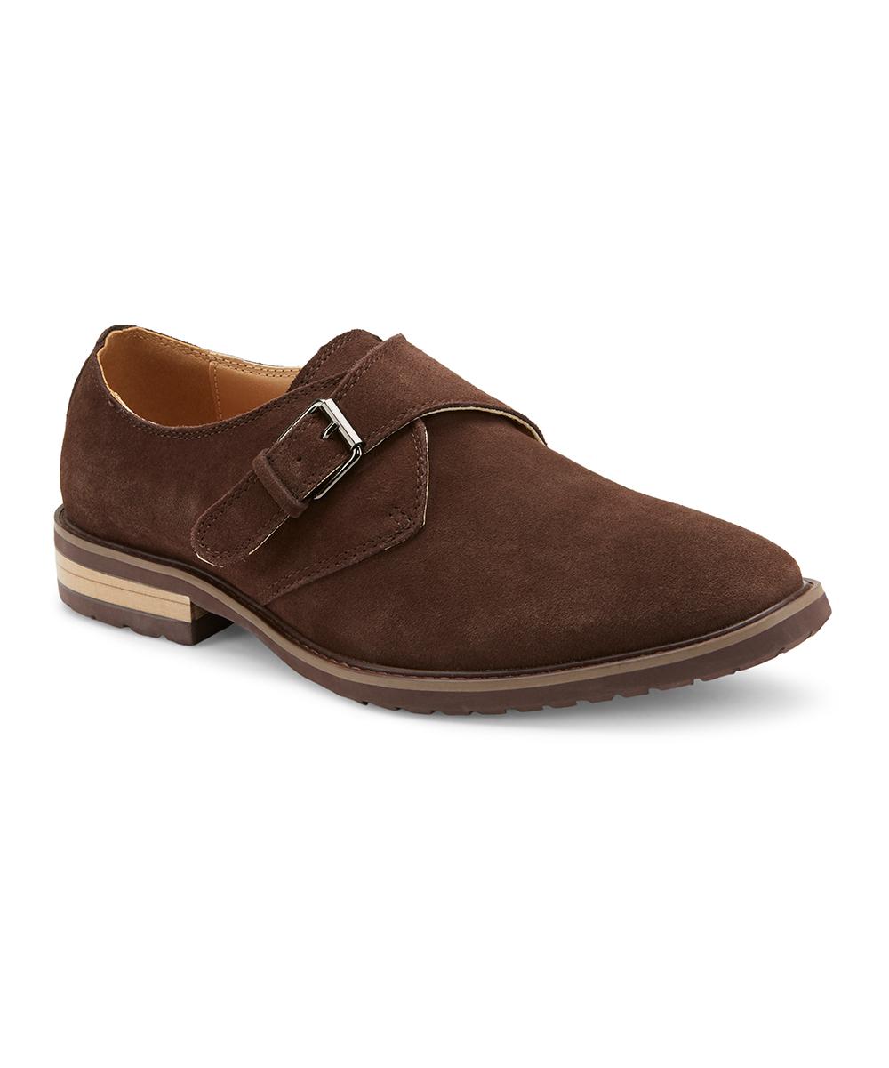 Reserved Footwear Brown Stanton Suede Monk Strap Shoe Men Zulily