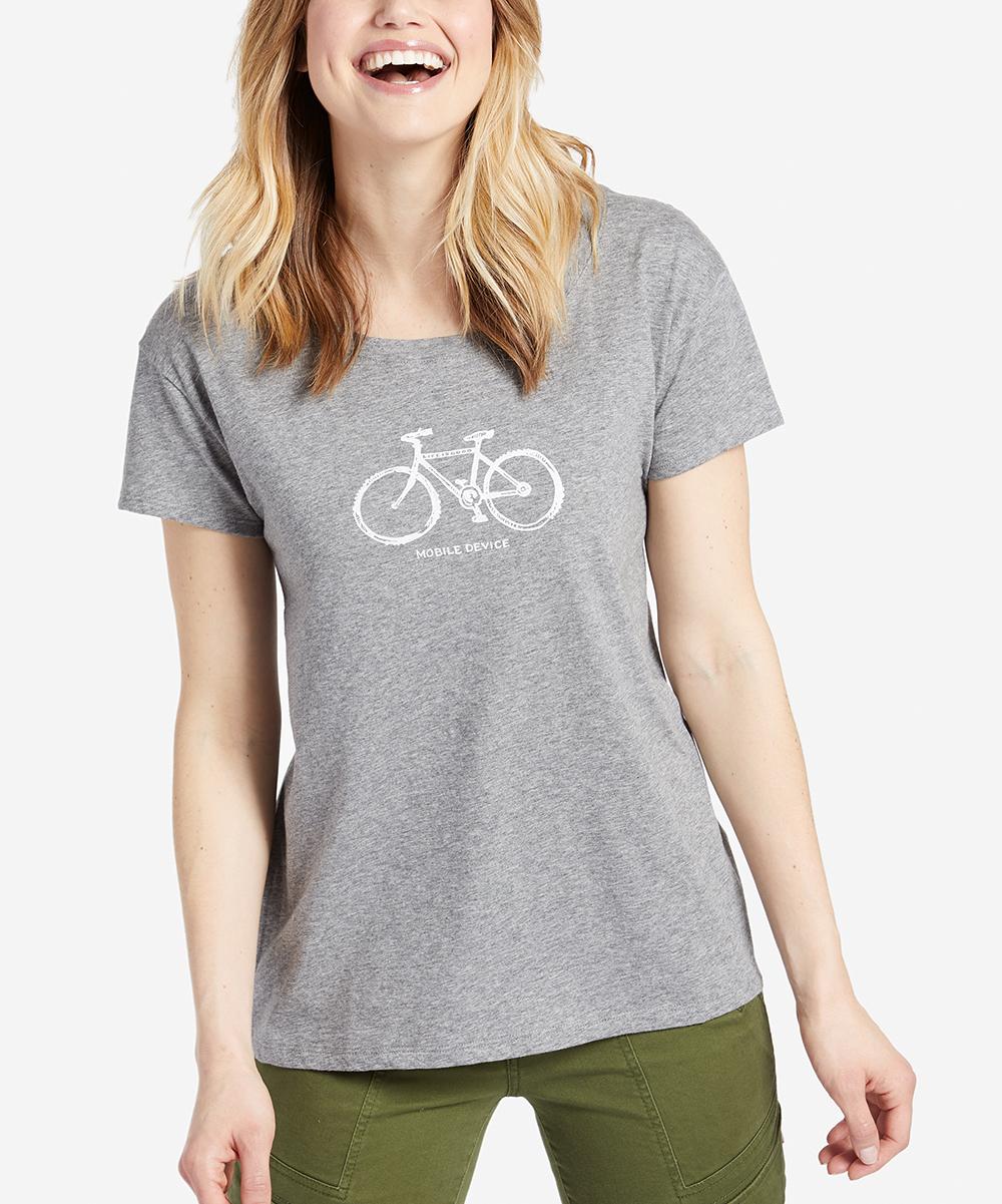 Heather Gray 'Mobile Device' Bike Breezy Tee - Plus