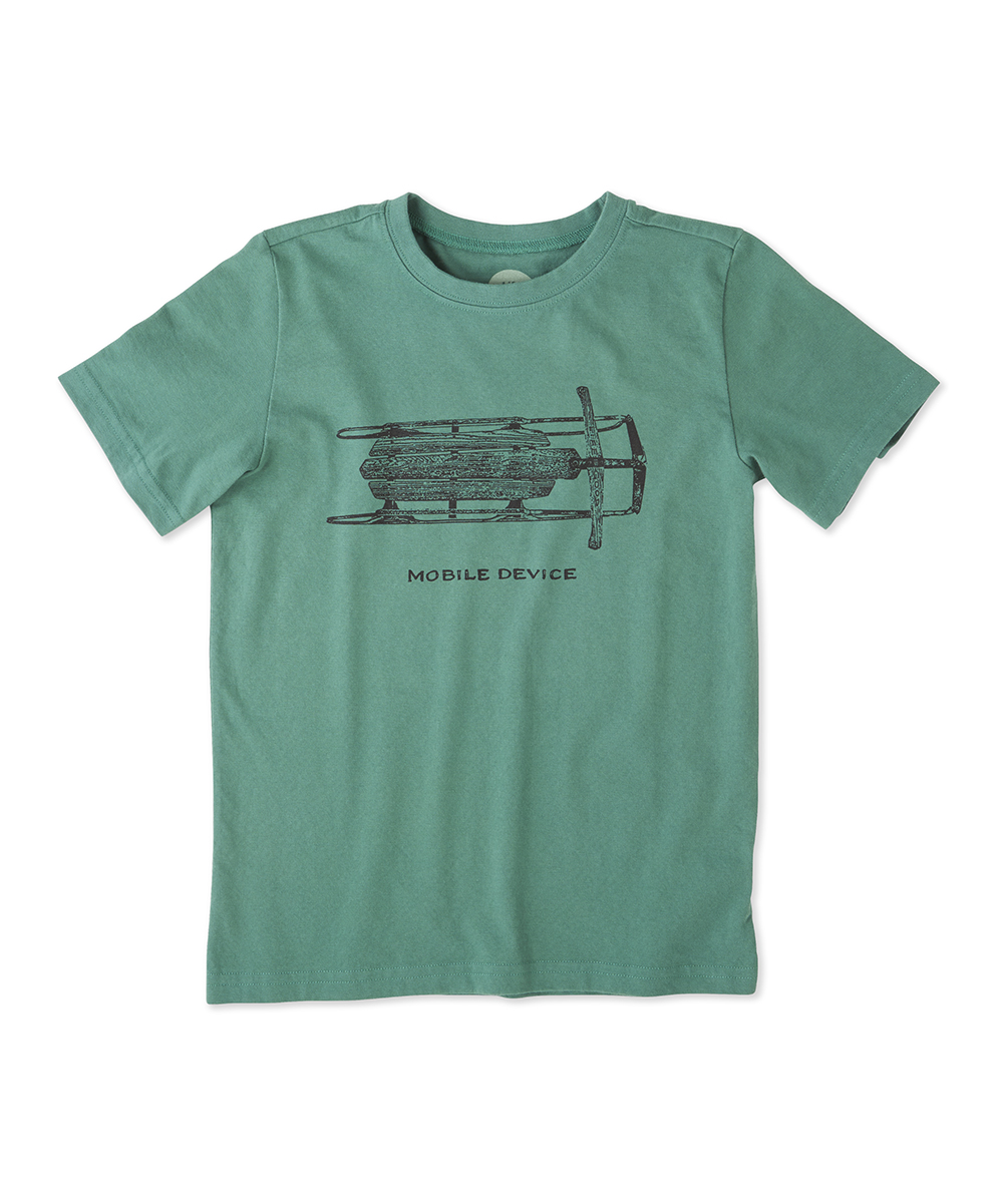 Life is Good® Forest Green 'Mobile Device' Tee - Boys