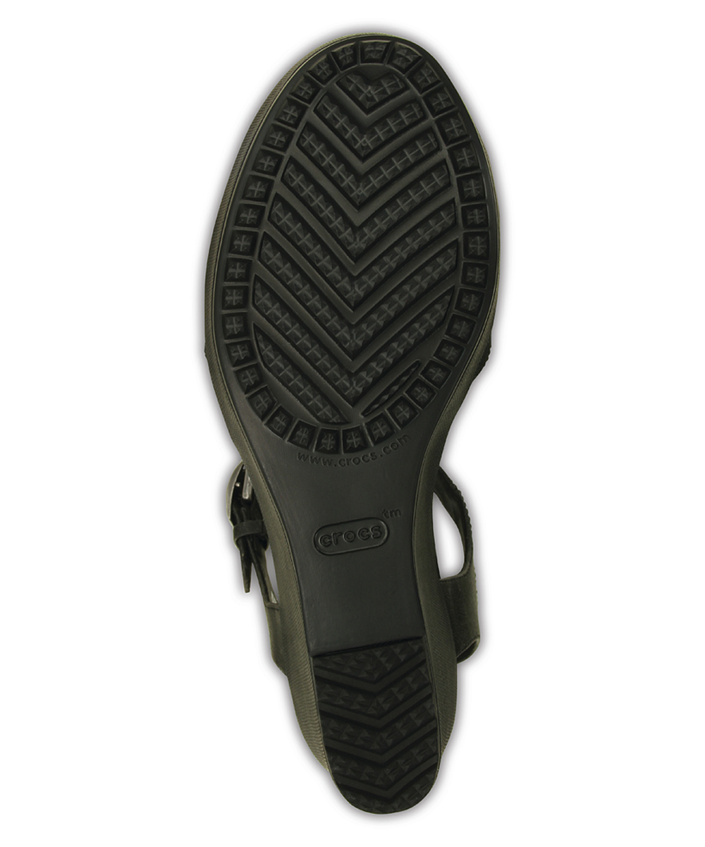 be186c08e4 ... Womens Black/Black Black Leigh II Ankle Strap Wedge Sandal - Alternate  Image 4