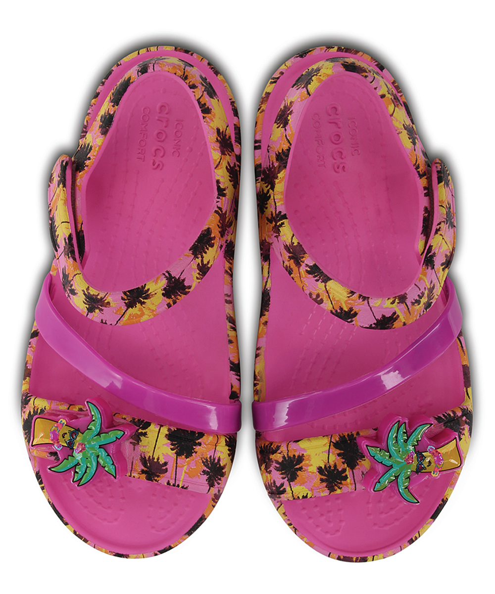 83b44f9c50a0 ... Girls Party Pink Party Pink Palm Trees Lina Lights Sandal - Girls -  Alternate Image 4 ...