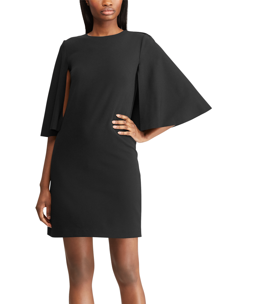 55ef8ade8791 Lauren Ralph Lauren Black Cape-Overlay Sheath Dress - Women