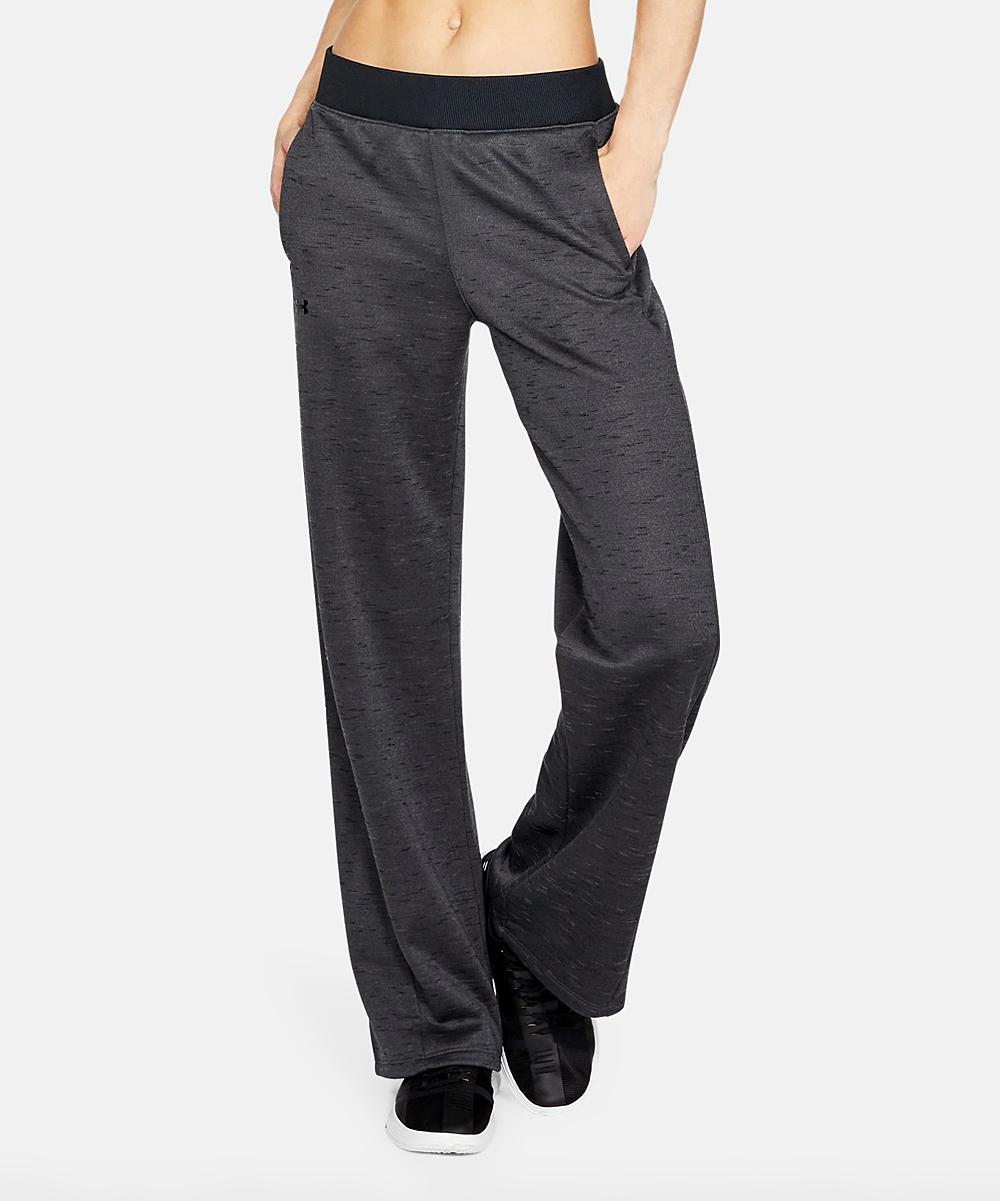 dfdd1d25 Under Armour® Charcoal Fleece Wide-Leg Pants - Women
