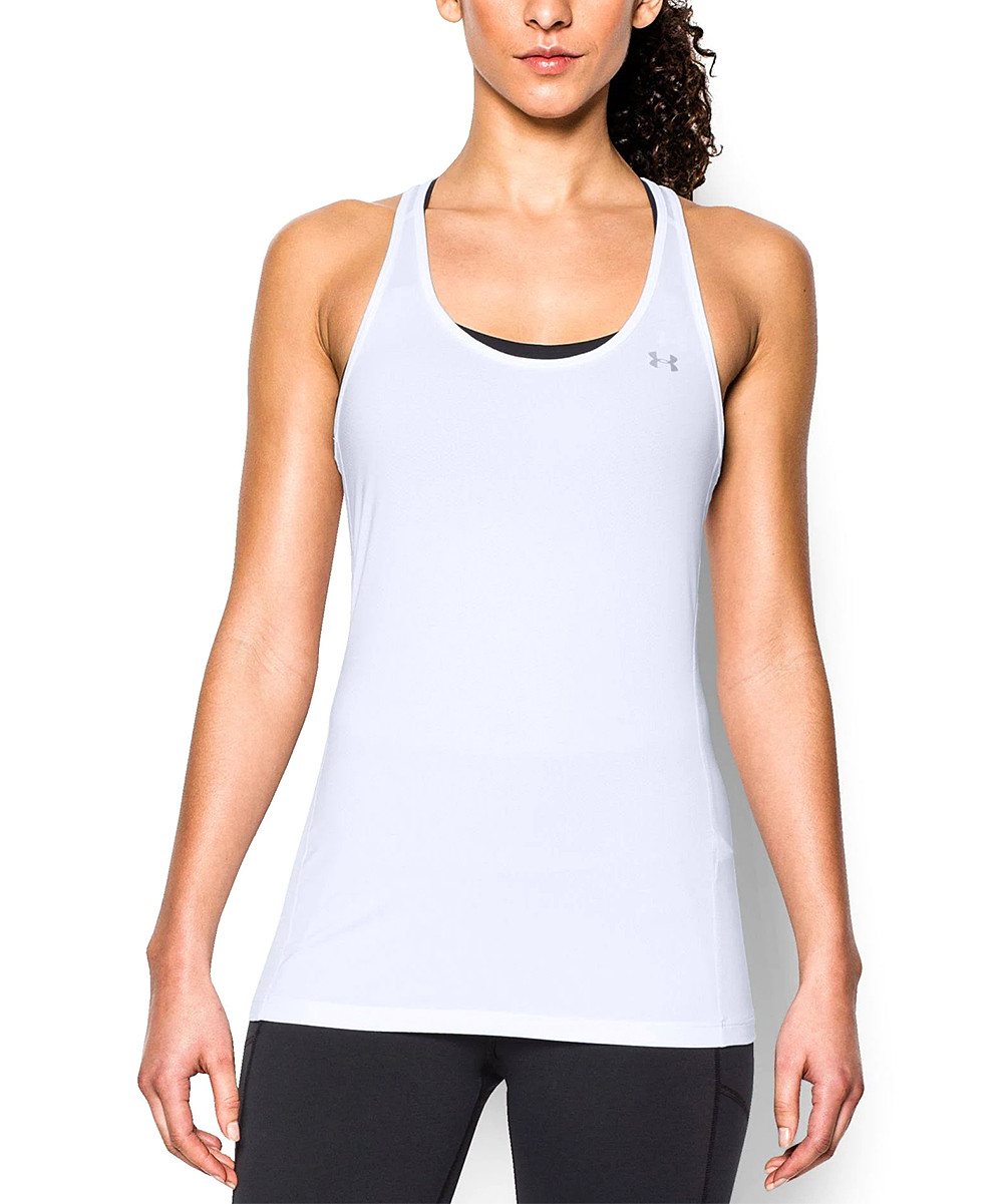 cf8788f8 Under Armour® White Racerback Tank - Women
