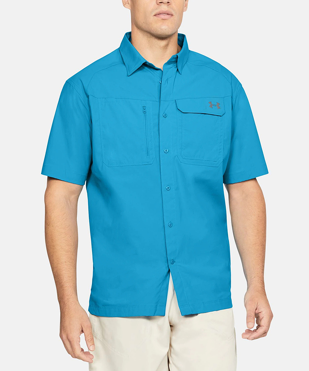 04dbad79 Under Armour® Canoe Blue Fish Hunter Short-Sleeve Button-Up - Men