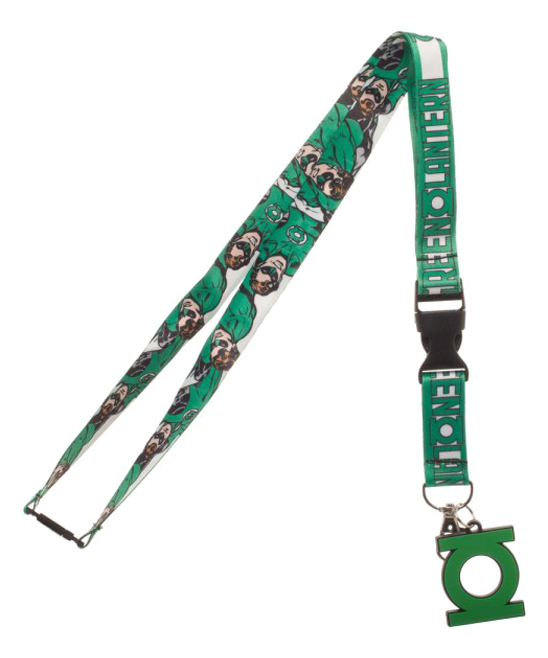 Green Lantern Logo Lanyard Green Lantern Logo Lanyard. Keep your key close by with the help of the Green Lantern and this lanyard crafted with a detachable clip.Includes lanyard and pendantPolyesterImported