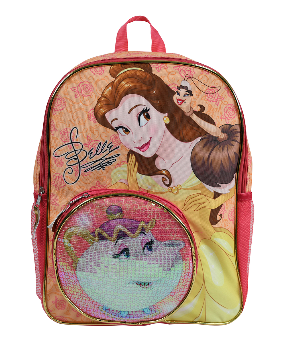 UPD Girls' Backpacks  - Beauty and the Beast Belle Sequin Backpack
