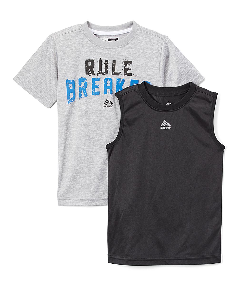 b2a07ff0893d RBX Gray Heather Rule Breaker Tee   Midnight Muscle Tank - Boys