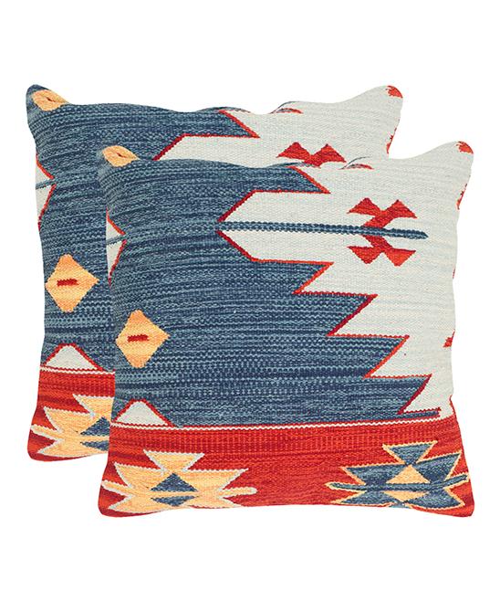 Safavieh Blue Pueblo Throw Pillow - Set of Two  e87f3f906e