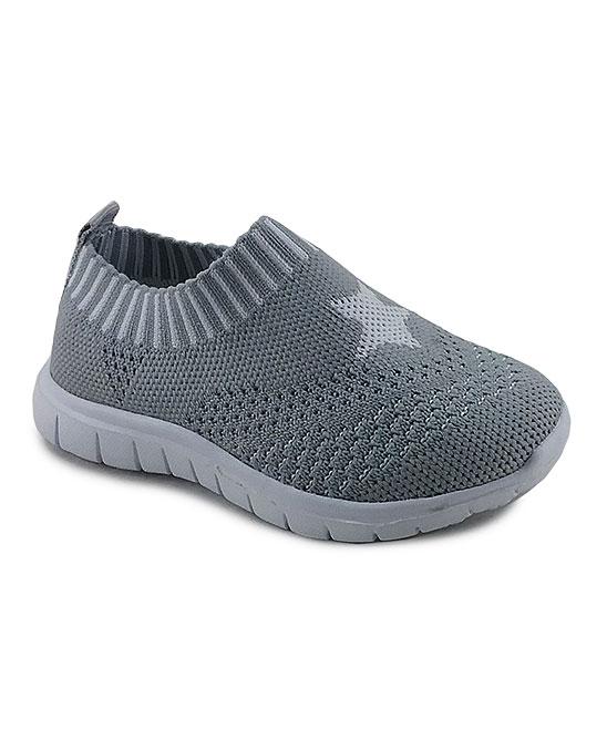 Ositos Shoes  Sneakers GREY - Gray Star Slip-On Sneaker - Kids