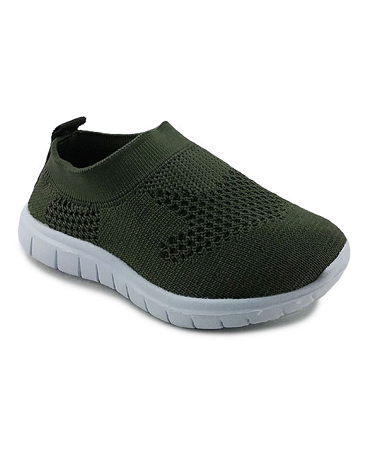 Ositos Shoes  Sneakers OLIVE - Olive Slip-On Sneaker - Kids