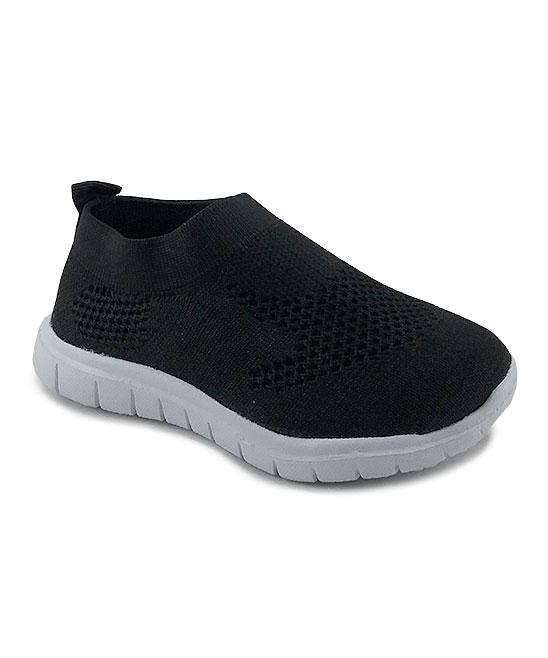 Ositos Shoes  Sneakers BLACK/WHITE - Black & White Slip-On Sneaker - Kids