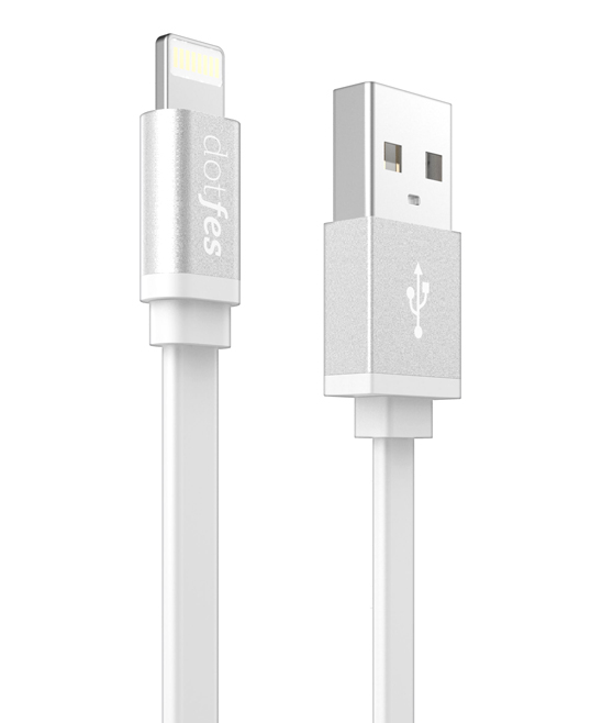 dotfes  USB Cables White - White Lightning Connector To USB Cable
