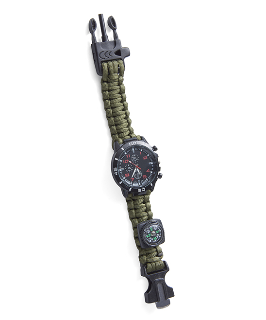 Off Grid Tools  Smart Watches Green - Green Paracord Survival Watch